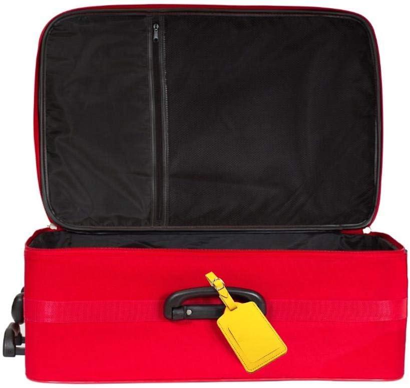 Schildeng Etiquette De Bagage 4pcs//Set Etiquette De Bagage en Cuir avec /Étiquette Dadresse pour Valise De Sac De Voyage