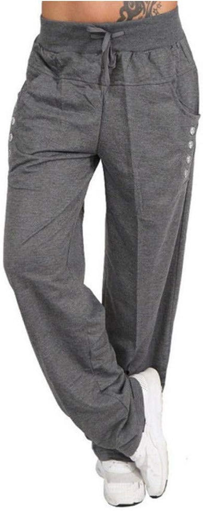 Zilosconcy Pantalones de chándal cagados para Mujer en Cierre de ...
