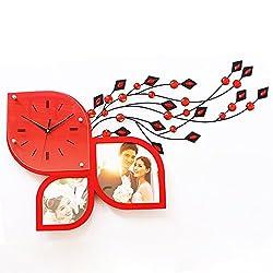 zhENfu Creative art watches, clocks, photo frames, clocks, watches and clocks of modern art, creative art Watch,gules