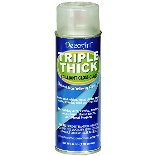 DecoArt TG01-21 Triple Thick Gloss Glaze Spray, - Spray Triple