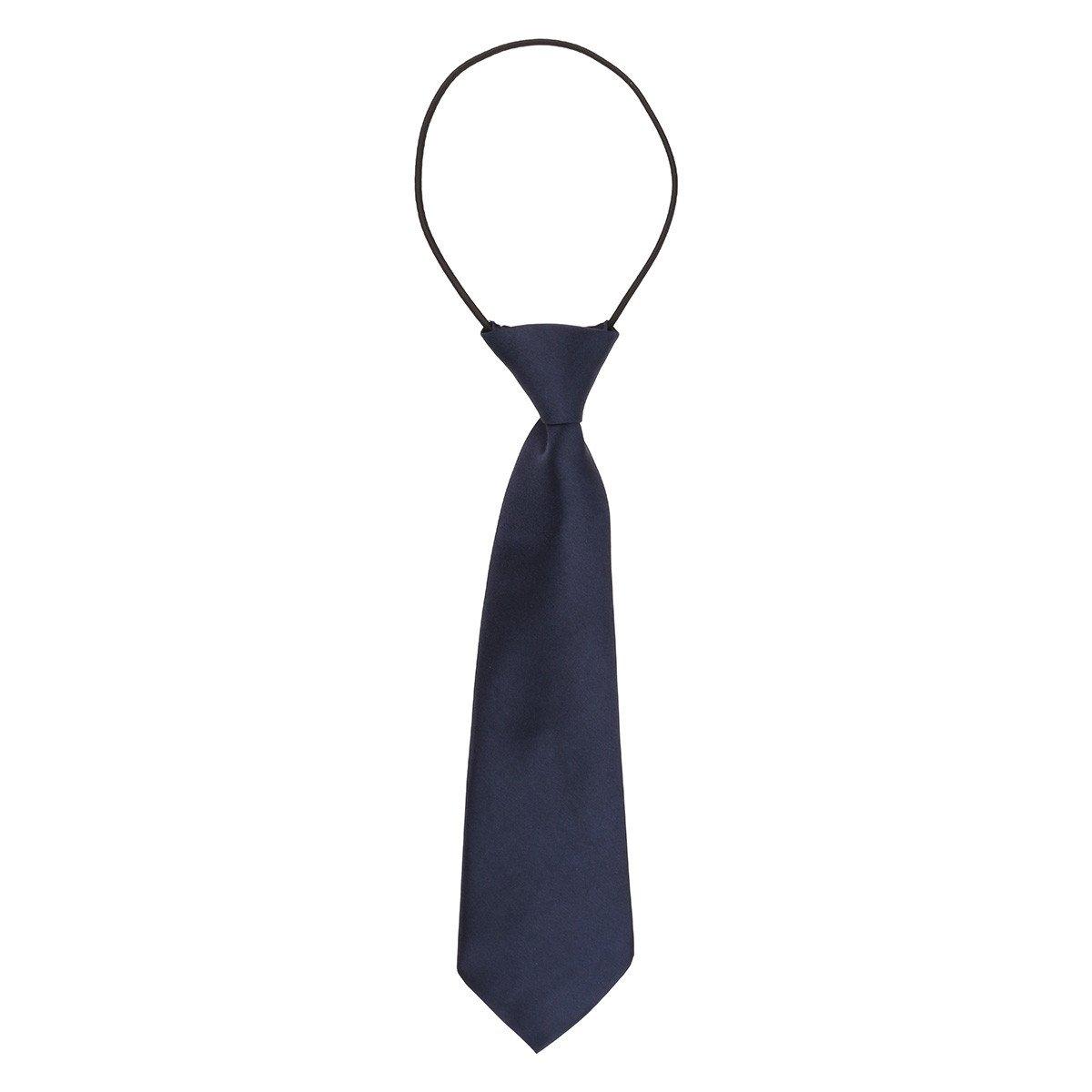 iiniim Kids School Boys Adjustable Solid Color Tie Birthday Party Wedding Necktie Navy Blue One Size