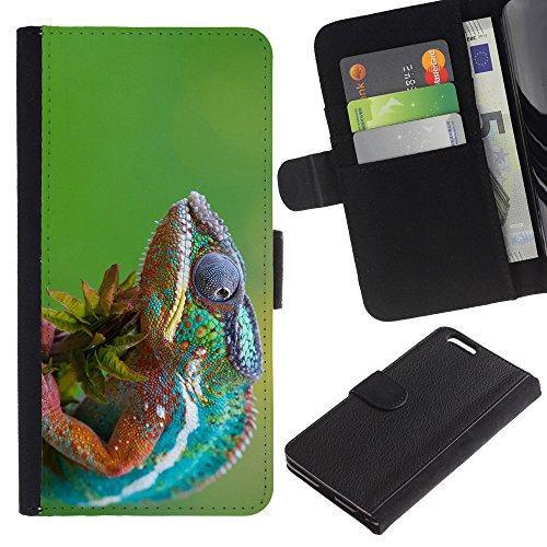 EuroCase - Apple Iphone 6 PLUS 5.5 - The Cool Chameleon 2 - Cuir PU Coverture Shell Armure Coque Coq Cas Etui Housse Case Cover