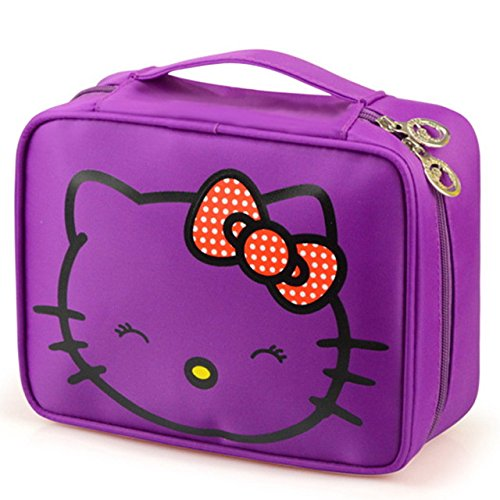 62ba88abb6 Lepakshi Purple Keythemelife Women Makeup Cosmetics Bag Storage Pouch Cute Hello  Kitty Pouch Stora  Amazon.in  Clothing   Accessories