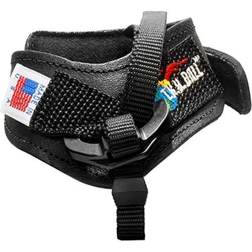 Tru Ball Archery Web Replacement Leather Strap Buckle, Black, Large
