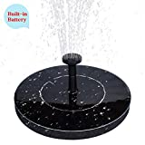 MADETEC Solar Fountain Pump with Battery Backup?1.5W Upgraded Submersible Solar Water Fountain Panel Kit for Bird Bath,Small Pond,Garden and Lawn