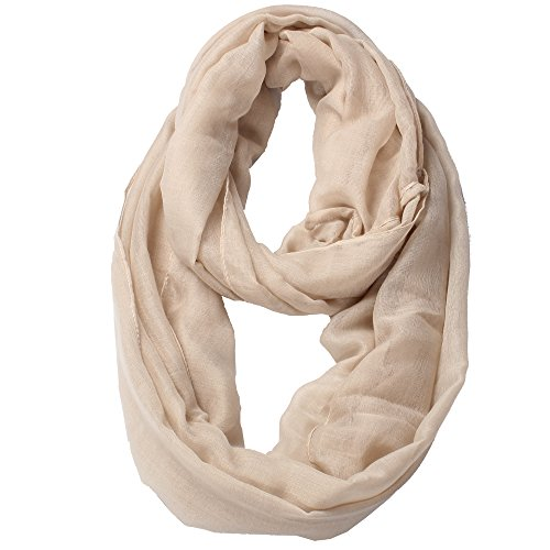 Solid Color Infinity Lightweight Women Soft Scarf ()