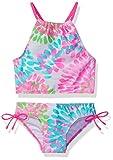 Kanu Surf Girls' Little Daisy Halter Tankini Beach Sport 2-Piece Swimsuit, neon Pink, 6X