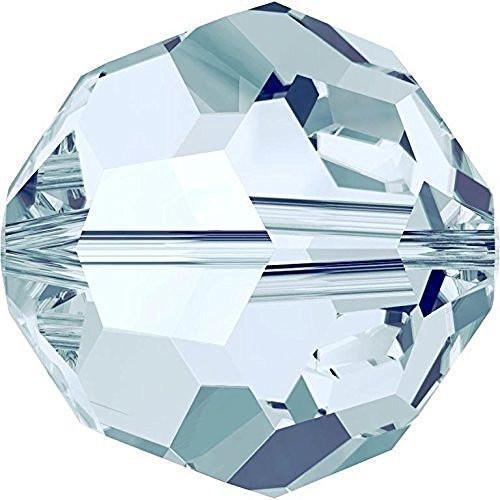 5000 Swarovski Crystal Beads Round Light Azore | 6mm - Pack of 20 | Small & Wholesale Packs ()