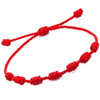 HUELLAS Bracelet 7 Knots for Protection, Evil Eye and Good Luck. Buddisth String. Thread/Amulet for Prosperity and…