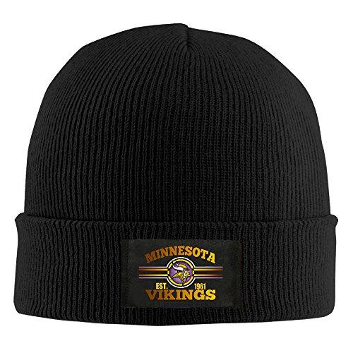 [Amone Minnesota Viking Winter Knitting Wool Warm Hat Black] (Stefon Costume)