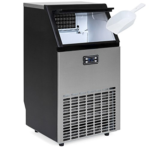 Best Choice Products Portable Stainless Steel Commercial Ice Maker w/Scooper, Timer & Auto Clean, Products 99lbs Daily