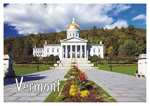 (Montpelier, State Capitol of Vermont, State House, New England, Travel, Souvenir, Refrigerator, Locker Magnet 2 x 3 Fridge Magnet)