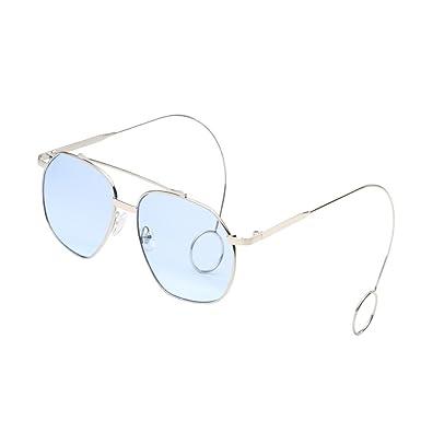 AMUSTER Rétro Lunettes de soleil unisexe oeil de chat vintage unisex rappeur lunettes Accessoires de lunettes Gradient Irrégulière Cadre Lunettes de vue cFYuIrCW