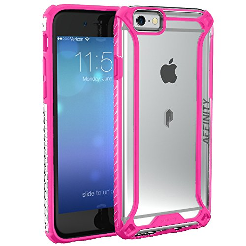 iPhone 6S Case, POETIC Affinity Series [Premium Thin]/No Bulk/Protection where its needed/Clear/Dual Material Protective Bumper Case for Apple iPhone 6S /iPhone 6 (Pink/Clear)