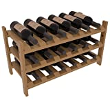 Wine Racks America Ponderosa Pine 18 Bottle Stackable. 13 Stains to Choose From!
