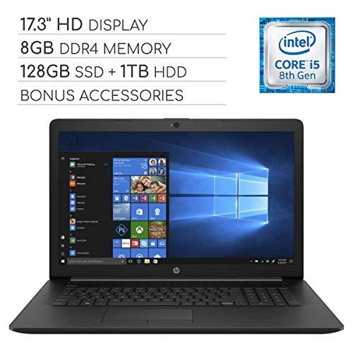 4 Gb 17.3in Dvd - HP Pavilion 2019 Premium 17.3 inch HD Laptop Notebook Computer, 4-Core Intel Core i5-8265U 1.60 GHz, 8GB RAM, 1TB HDD + 128GB SSD, DVD, Wi-Fi, Bluetooth, Webcam, HDMI, Windows 10, Bonus Accessories