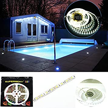 Amazon supernight smd5050 300leds nanocoating swimming pool supernight smd5050 300leds nanocoating swimming pool outdoor ip68 waterproof underwater aquarium led tape submersible led strip aloadofball Images