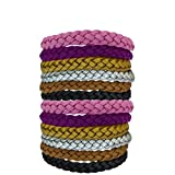 Original Kinven Mosquito Insect Repellent Bracelet Waterproof Natural DEET FREE Insect Repellent Bands, Anti Mosquito Protection Outdoor & Indoor, Adults & Kids, 12 bracelets, in Multiple Colors
