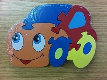 Forme De 12 Pour En Voiture Bois Puzzle Mois Enfant QeodCxBErW