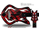 Red Plaid Decal Style Skin - fits Warriors Of Rock Guitar Hero Guitar (GUITAR NOT INCLUDED)
