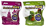 Kinetic Sand Build 2-Pound Play Pack (1 lb Green, 1 lb Pink)