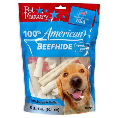 Pet Factory 949042 Usa 4-6-Inch Small Dog Assorted Chews for Dogs, - Akc Beaver