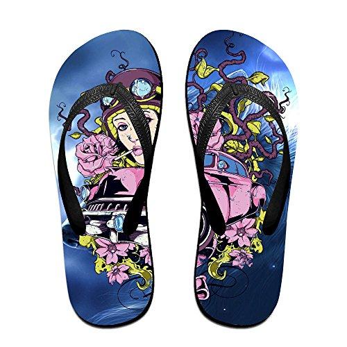 Denise Valdez Woman Rose Car Flip Flops Beach Sandal Slipper For Women And Men Top Quality Non-slip Outdoor Water S