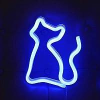 Neon Lights LED Cat Signs Wandlamp Kamer Decor Nachtverlichting Batterij en USB Werkt voor Kinderen Babykamer Slang Bar…