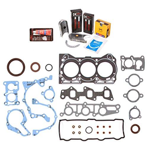 Evergreen Engine Rering Kit FSBRR8006\0\0\0 Fits 89-00 Chevrolet GEO Metro 1.0 SOHC G10 Full Gasket Set, Standard Size Main Rod Bearings, Standard Size Piston Rings