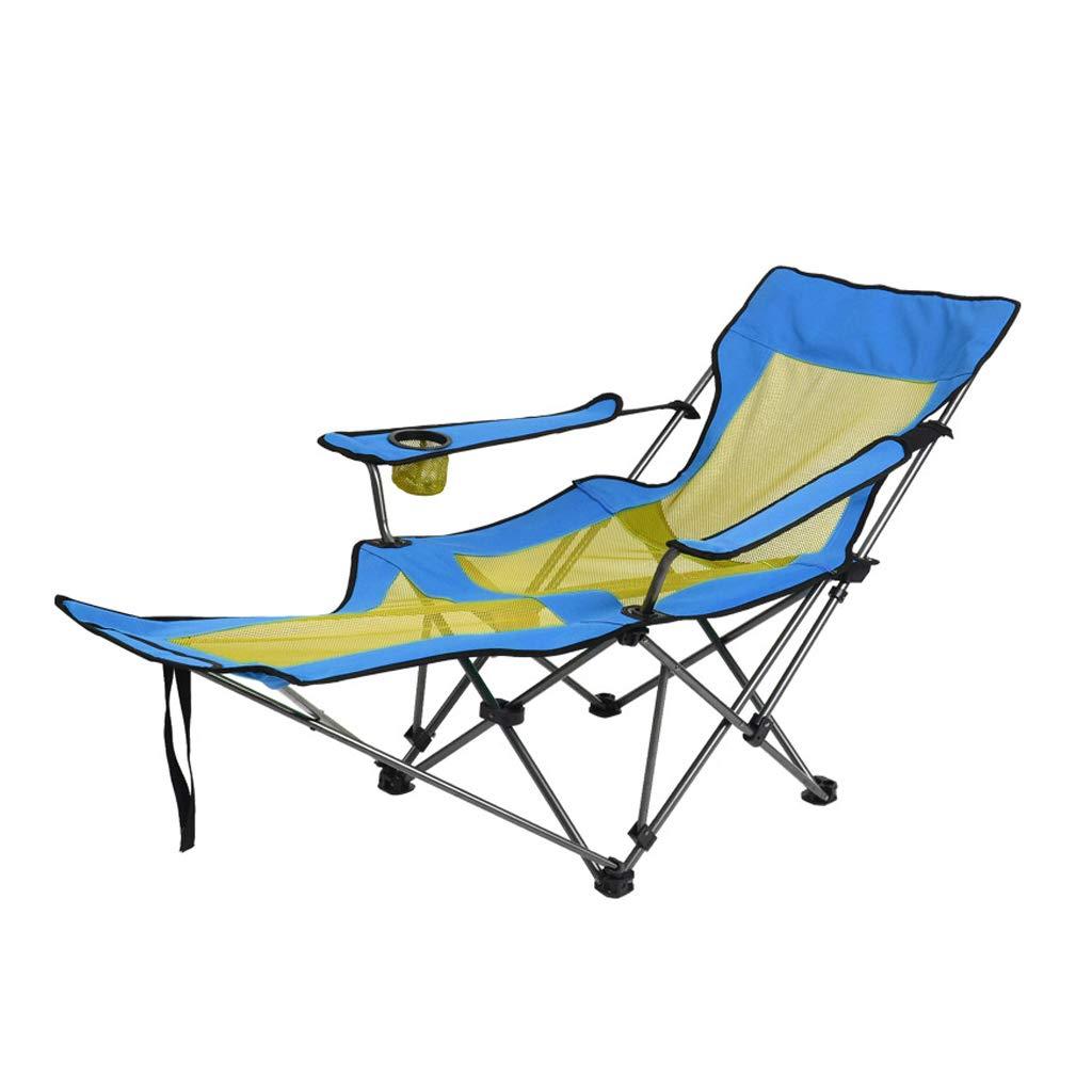 HYXI-Silla Plegable Silla de Camping al Aire Libre, sillón, ángulo de Respaldo Ajustable, Excursionista Pesca en la Playa Camping boceto Ocio Lunch Break Recliner - Paquete de 1