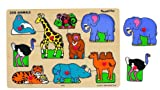 Small World Toys Ryan's Room Wooden Puzzle - Classic Zoo Animals