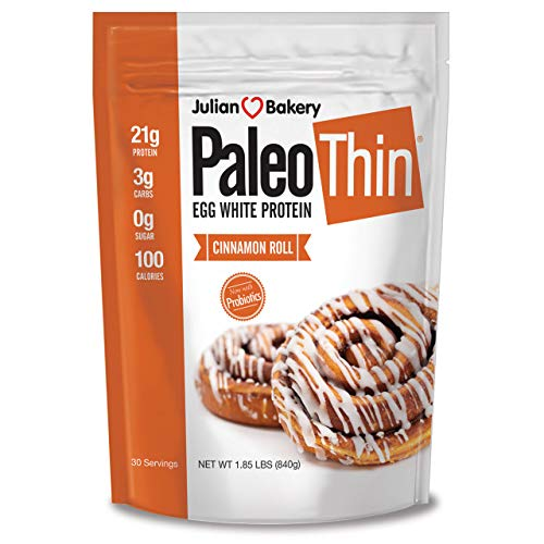 Paleo Protein Powder Cinnamon Roll (2 LBS Total)(30 Servings Total) (Keto/Low Carb) (Soy/GMO/Gluten Free)