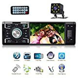 Car Stereo with Bluetooth Single Din Radio for Car MP5 Player USB/SD/AUX/FM Receiver Wireless Remote Control