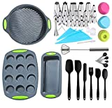 62 Pieces Silicone Bakeware Set, Food Grade