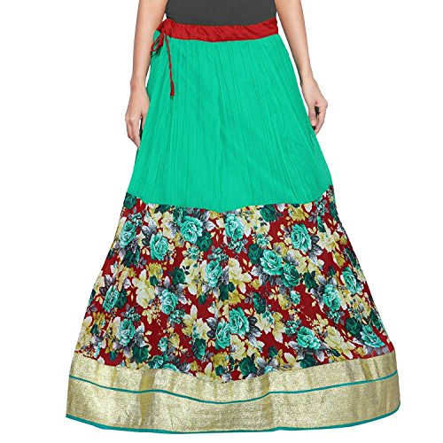 Around N2creations Women Indian Handicrfats Export Skirt Printed Wrap zORRnxwqaY