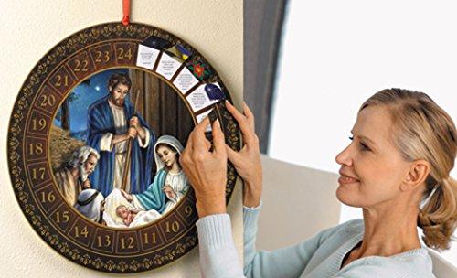 CB Catholic Round Advent Calendar Christmas Home Decoration Gift 13 3/4 Inch Diameter, Holy -