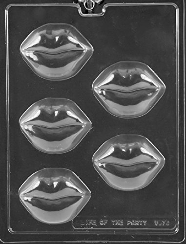 Grandmama's Goodies V175 Full Lips Kiss Cookie Valentine's Day Chocolate Candy Soap Mold with Exclusive Molding Instructions ()