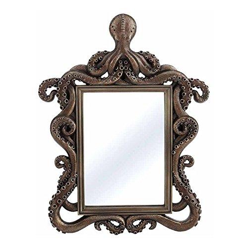 (XoticBrands Decorative 1.18 Inch Octopus Mirror-Home Accent, Bronze)