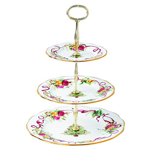 Boat Gravy Blossom (Old Country Roses Christmas Tree 3-Tier Cake Stand)