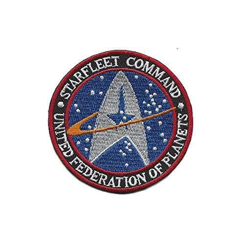 (SuperGifts STAR TREK STARFLEET COMMAND United federation of Planets iron on patch TNG TOS VOY DS9 Discovery)