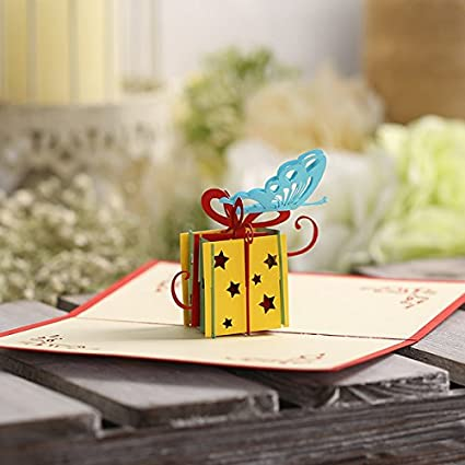 Actasy Tech 3D Creative Birthday Paper Card With Envelope Cut Art For