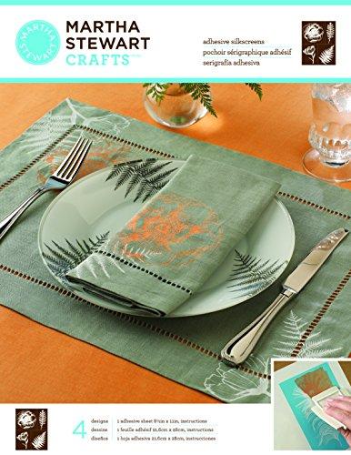 Martha Stewart Crafts Adhesive Silkscreen (8.5 by 11-Inch), 32929 4 Botanical Designs by Martha Stewart Crafts