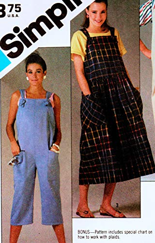 - Simplicity 6459 Misses Loose Fitting Pull On Overalls in Two Lengths and Pullover Jumper Vintage Sewing Pattern, Check Listings for Size