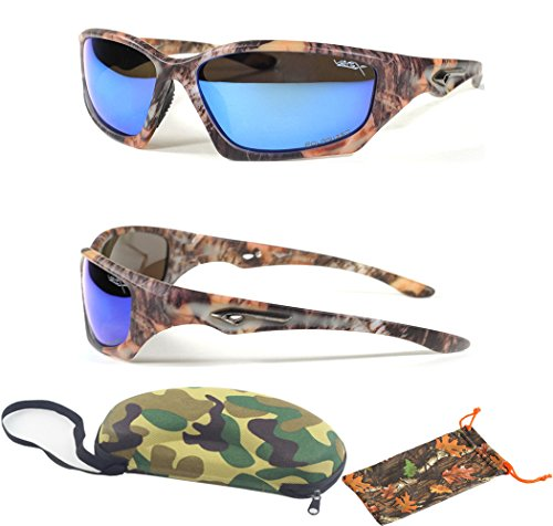 (#56025CM Blu) Blue Lenses- Polarized Lenses Ultra Light Teen Men UV Protection Summer Camo Sports Shades Free Camo - Camo Sunglasses