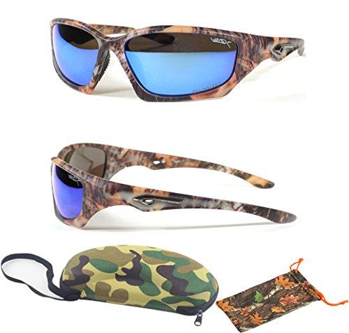 (#56025CM Blu) Blue Lenses- Polarized Lenses Ultra Light Teen Men UV Protection Summer Camo Sports Shades Free Camo - Shades Camo