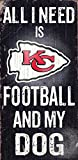 Fan Creations Kansas City Chiefs Football and My Dog Sign, Multicolored