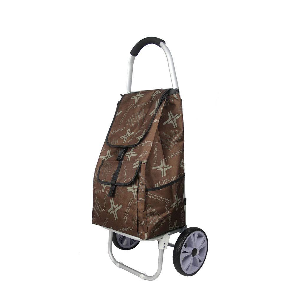 ショッピングカートショッピングトロリーショッピングバッグトロリー荷物カート食料品の折り畳み式カート軽量トロリー旅行   B07KG7TN5R