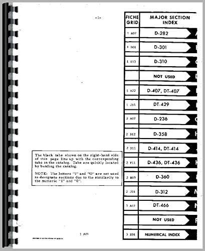 International Farmall D-358 414 436 DT 8 Cylinder Diesel Engine Parts Manual IH