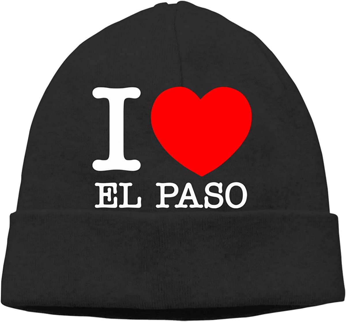 I Love Heart El Paso Funny Men and Women Baggy Surf Beanie Hat