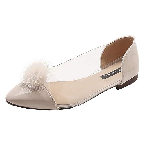 Mocasines Sandalias de Vestir Transparente Casual de Mujer, QinMM Zapatos Plano de otoño Merceditas: Amazon.es: Zapatos y complementos